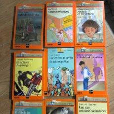 Livres: LOTE 9 LIBROS EL BARCO DE VAPOR SM - PAUL ZINDER EMILI TEIXIDOR - ERIC WILSON. Lote 241707680