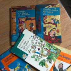 Livres: LOTE 5 LIBROS ROALD DAHL Y QUENTIN BLAKE ALFAGUARA BRUJAS CHARLIE FABRICA CHOCOLATE ASCENSOR. Lote 241711715