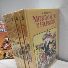 Libros: 5 TOMOS LAS AVENTURAS DE MORTADELO Y FILEMÓN SIN USO PRECINTADOS. Lote 244324255