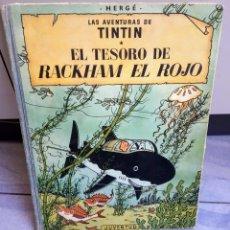 Livros: TINTIN EL TESORO DE RACKHAM EL ROJO EDITORIAL JUVENTUD - BARCELONA EDICIÓN 1960. Lote 250327410
