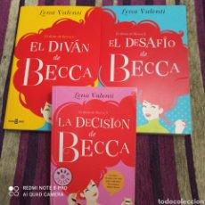 Libros: LOTE DE LIBROS, EL DIVAN DE BECCA, TRILOGÍA SEMI NUEVOS, LEÑA VALENTÍ. 2016/16.. Lote 253739810