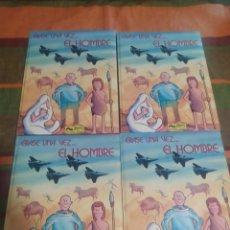 Libros: LIBROS ÉRASE UNA VEZ EL HOMBRE TOMOS 1-2-3-4. Lote 276996008