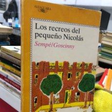 Livres: LOS RECREOS DEL PEQUEÑO NICOLÁS - ALFAGUARA - GOSCINNY - SEMPE. Lote 280331193