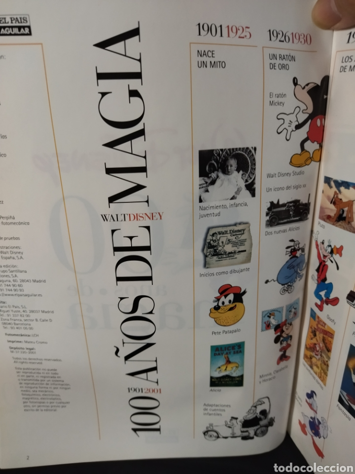 Libros: Libro de Walt Disney ,100 años de magia ,cantidad de información y documentación gráfica - Foto 5 - 280960858