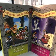 Libros: LOTE 2 LIBROS ESCUELA DE CAZADRAGONES K. H. MCMULLAN - UNA VISITA INESPERADA Y EL FANTASMA DE…. Lote 282210083