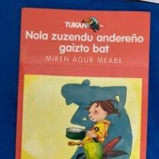 Libros: LIBRO ESPECTACULAR , EN EUSKERA COMO NUEVO. Lote 284808318