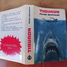 Libros: TIBURON,TAPA DURA CON SOBRECUBIERTA,414 PAGINAS,AÑO 1973,FALLO DE IMPRENTA,ENCUADERNANCION DEL REVES. Lote 288703933