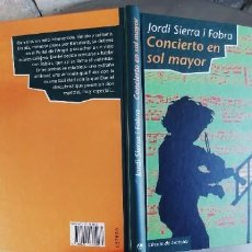 Libros: CONCIERTO EN SOL MAYOR,TAPA DURA,133 PAGINAS,AÑO 1997. Lote 289888248