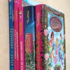 Libros: LOTE 5 LIBROS TEA Y GERÓNIMO STILTON -. Lote 294901168