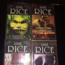 Libros: PACK 4 LIBROS ANNE RICE. Lote 78414165