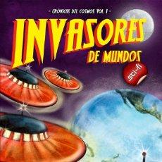 Libros: INVASORES DE MUNDOS-CRÓNICAS DEL COSMOS VOL. I. Lote 115078551