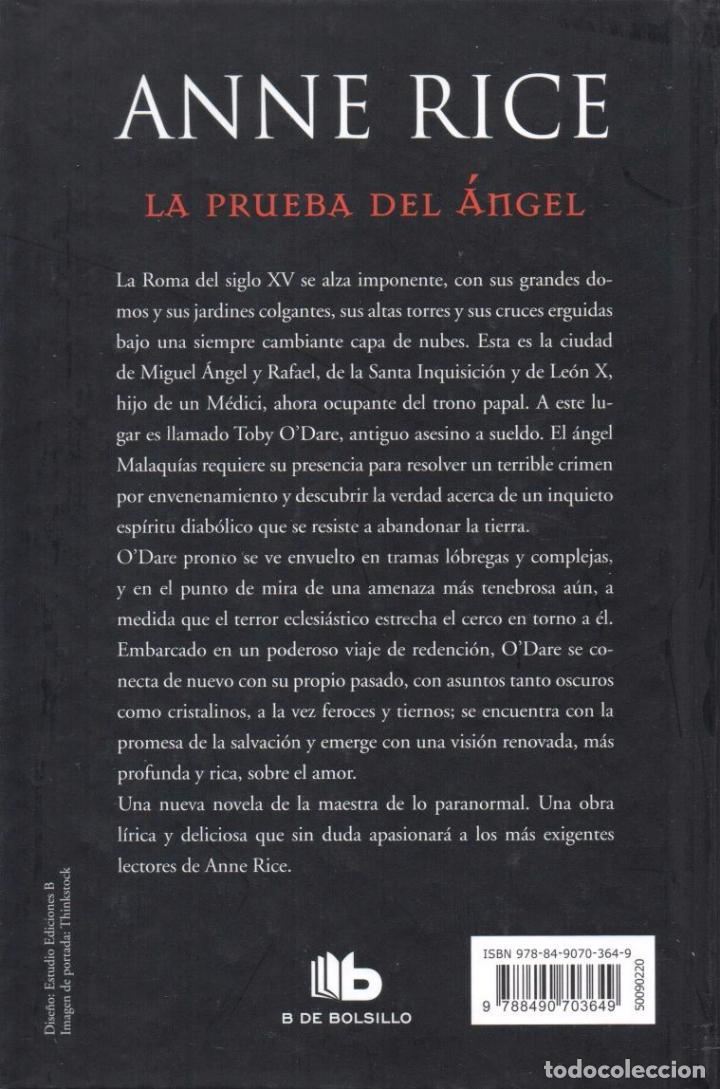 Libros: LA PRUEBA DEL ANGEL de ANNE RICE - EDICIONES B, 2017 - Foto 2 - 100422683
