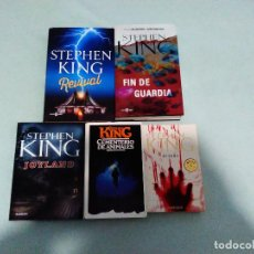 Libros: LOTE STEPHEN KING TERROR. Lote 108349599