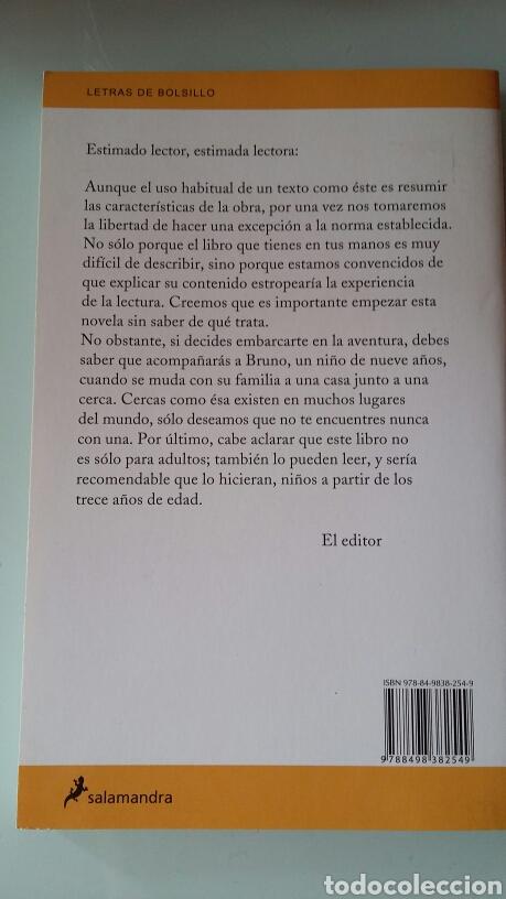 Libros: El niño con el pijama de rayas. John Boyne. 2009 - Foto 2 - 126111752