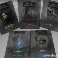 Libros: RELATOS DE MISTERIO Y TERROR. COLECCION COMPLETA. 5 LIBROS NUEVOS. CLUB INTERNACIONAL DEL LIBRO . Lote 132000074