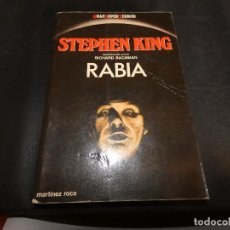 Libros: RABIA STEPHEN KING EN GRAN SUPER TERROR DE MARTINEZ ROCA PESA 321 GRAMOS. Lote 147153098