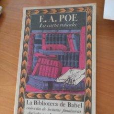 Libros: LA CARTA ROBADA (E.A.POE). Lote 153038586