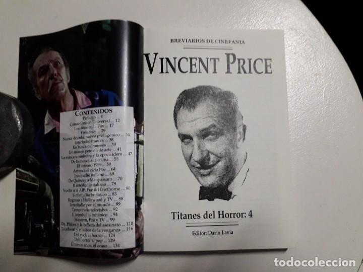 Libros: TITANES DEL HORROR! - VINCENT PRICE! - COLECCIÓN BREVIARIOS DE CINEFANIA Nº 4 - ARGENTINA - Foto 2 - 155737982