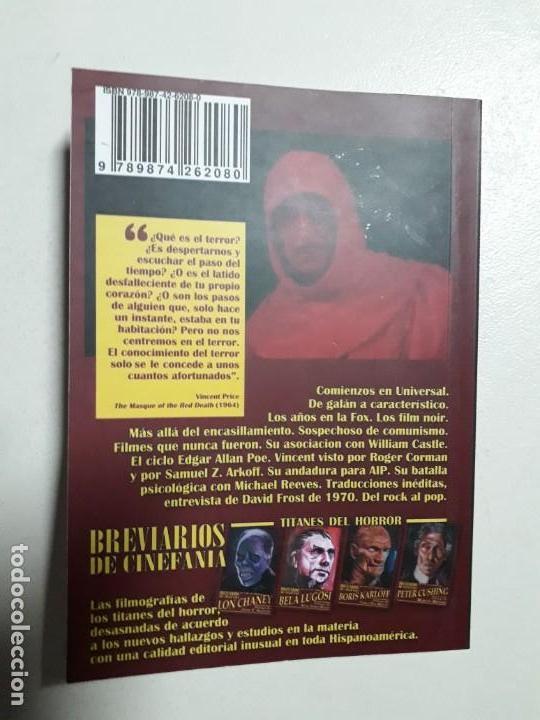Libros: TITANES DEL HORROR! - VINCENT PRICE! - COLECCIÓN BREVIARIOS DE CINEFANIA Nº 4 - ARGENTINA - Foto 9 - 155737982