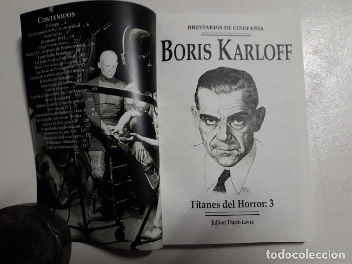 Libros: TITANES DEL HORROR! - BORIS KARLOFF - ESPECTACULAR COLECCIÓN BREVIARIOS DE CINEFANIA - ARGENTINA - Foto 2 - 204485511