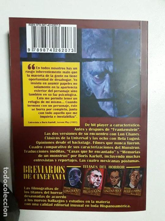 Libros: TITANES DEL HORROR! - BORIS KARLOFF - ESPECTACULAR COLECCIÓN BREVIARIOS DE CINEFANIA - ARGENTINA - Foto 10 - 204485511
