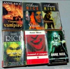 Libros: LOTE CRÓNICAS VAMPÍRICAS ANNE RICE VAMPIRO REINA CONDENADOS. Lote 165179001