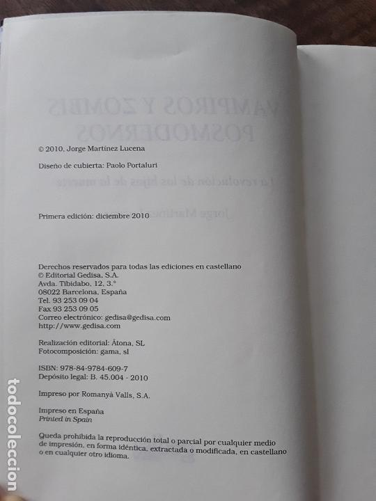 Libros: VAMPIROS Y ZOMBIS POSMODERNOS- JORGE MARTÍNEZ LUCENA - Foto 2 - 169435376