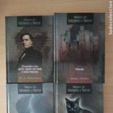 Libros: RELATOS DE MISTERIO Y TERROR. LOTE 4 LIBROS. NUEVO. Lote 177704934