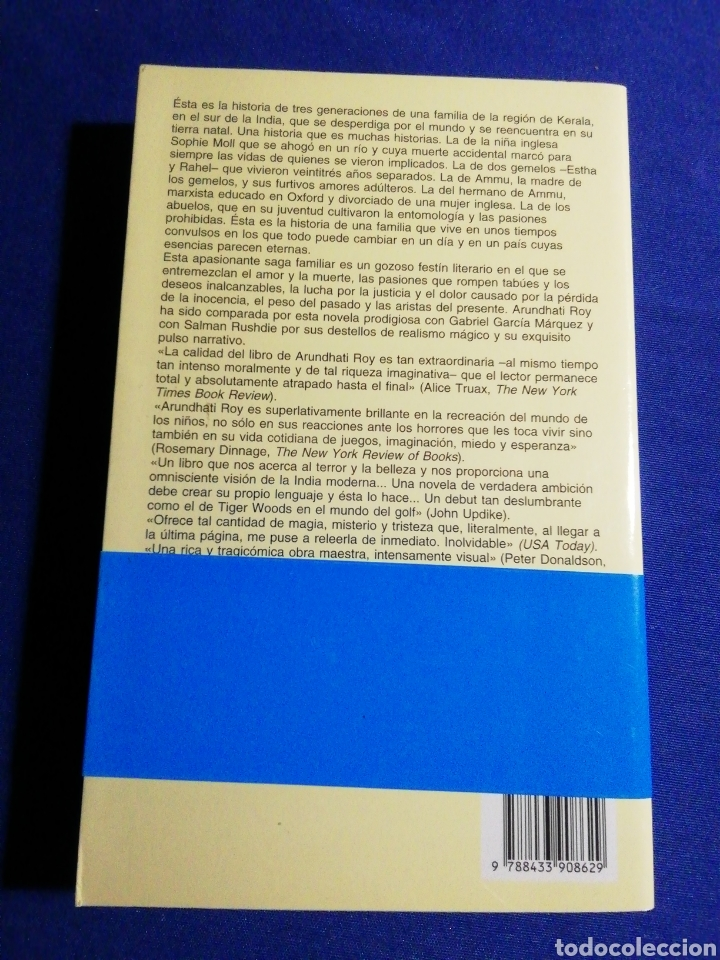 Libros: EL DIOS DE LAS PEQUEÑAS COSAS. ARUNDHATI ROY. NUEVO - Foto 2 - 179104386