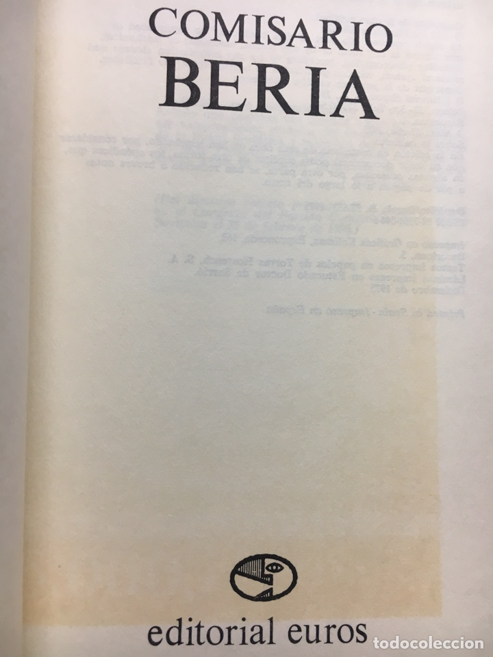 Libros: Comisario Beria (Thaddeus Wittlin) - Foto 2 - 202401996
