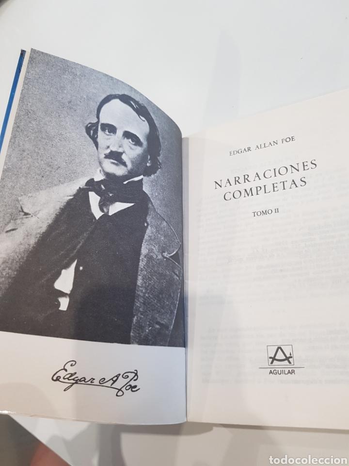 Libros: Edgar Allan Poe ,Aguilar , 1980,Narraciones completas - Foto 2 - 210690899