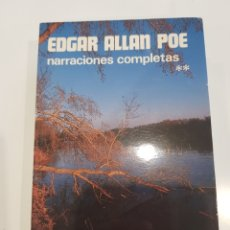 Libros: EDGAR ALLAN POE ,AGUILAR , 1980,NARRACIONES COMPLETAS. Lote 210690899