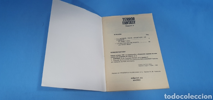 Libros: TERROR FANTASY - LAS MEJORES NARRACIONES DE TERROR Y SUSPENSE - NÚMEROS 1 -3 y 4 - Foto 7 - 212764553