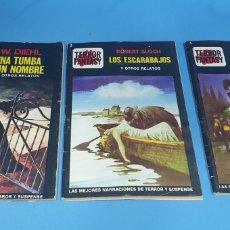 Libros: TERROR FANTASY - LAS MEJORES NARRACIONES DE TERROR Y SUSPENSE - NÚMEROS 1 -3 Y 4. Lote 212764553