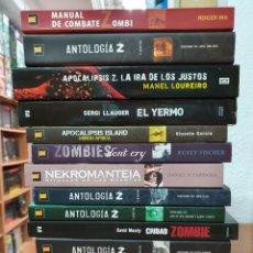 Libros: LOTE 14 LIBROS TEMATICA ZOMBIE Y TERROR VARIAS EDITORIALES. Lote 215661036