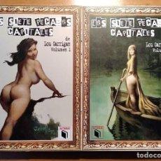 Libros: LOS SIETE PECADOS CAPITALES - LOU CARRIGAN - 2 VOLUMENES - COMPLETO - ACHAB - 1ª EDICIÓN - NUMERADOS. Lote 222125990