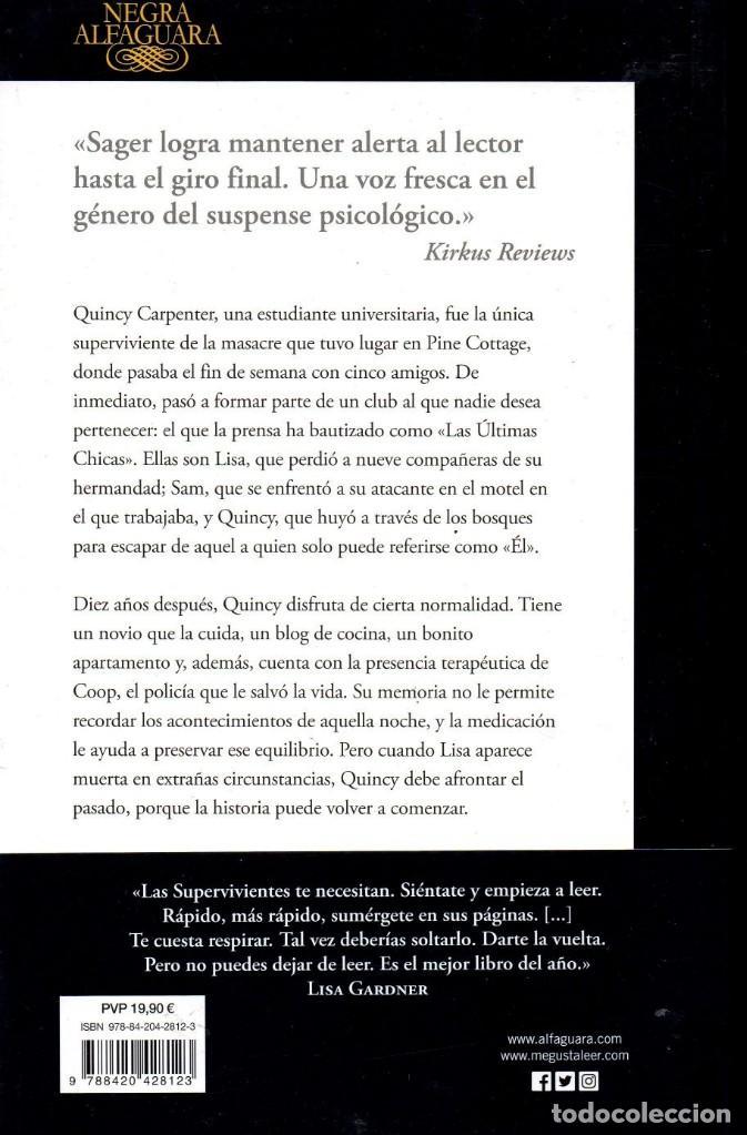 Libros: LAS SUPERVIVIENTES de RILEY SAGER - ALFAGUARA, 2018 (NUEVO) - Foto 2 - 222468278