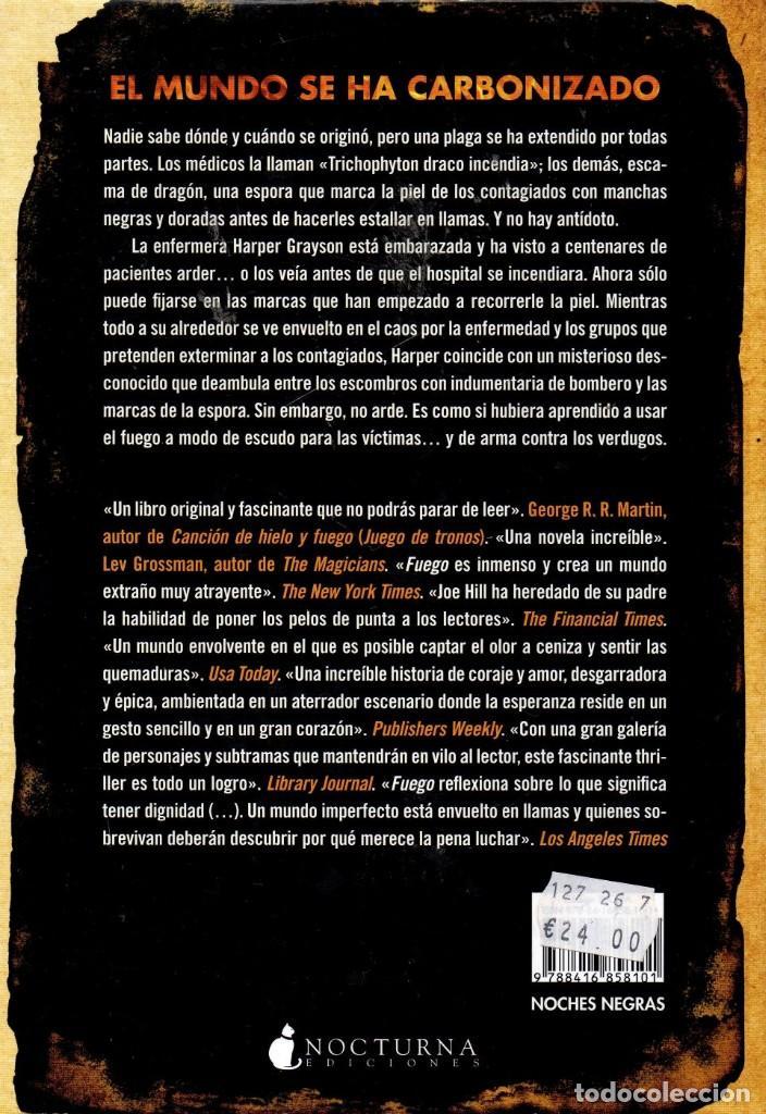 Libros: FUEGO de JOE HILL - NOCTURNA EDICIONES, 2017 (NUEVO) - Foto 2 - 222498310