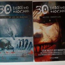 Libros: 2 LIBROS 30 DIAS DE NOCHE STEVE NILES JEFF MARIOTTE RUMORES DE LOS NO MUERTOS RESTOS INMORTALES. Lote 253867760