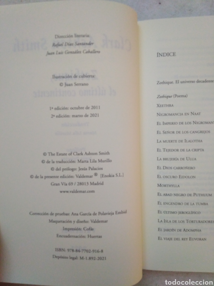 Libros: Zothique, el último continente - Foto 5 - 266973864