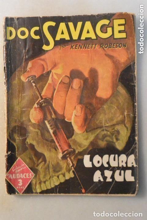 NOVELA LOCURA AZUL DOC SAVAGE, Nº 60 1943 (Libros Nuevos - Literatura - Narrativa - Terror)
