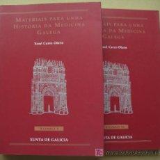 Libros: MATERIAIS PARA UNHA HISTORIA DA MEDICINA GALEGA. DOS TOMOS. OBRA COMPLETA. Lote 94444874