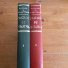 Libros: TRIATRATADO DE PEDIATRIA (2 VOLUMENES) FANCONI, G. Y WALLGREN, A. ED. MORATA 1967 . Lote 47974569