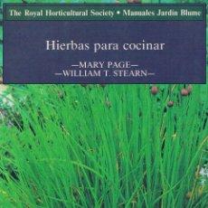 Libros: HIERBAS PARA COCINAR. Lote 82190080