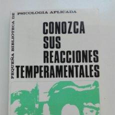 Libros: CONOZCA SUS REACCIONES TEMPERAMENTALES POR EL PROFESOR VENDELLOS. Lote 101048852