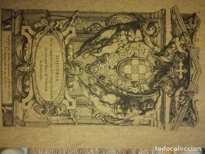 HISTORIA DE LA COMPOSICION DEL CUERPO HUMANO POR JUAN VALVERDE (Libros Nuevos - Ciencias, Manuales y Oficios - Medicina, Farmacia y Salud)