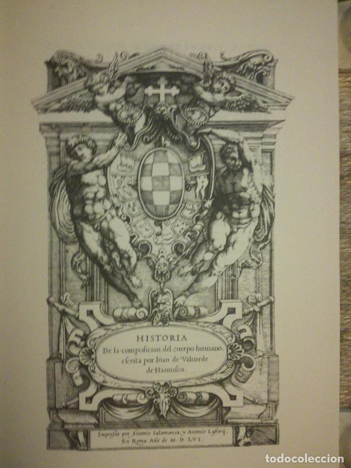 Libros: HISTORIA DE LA COMPOSICION DEL CUERPO HUMANO POR Juan VALVERDE - Foto 2 - 109554891