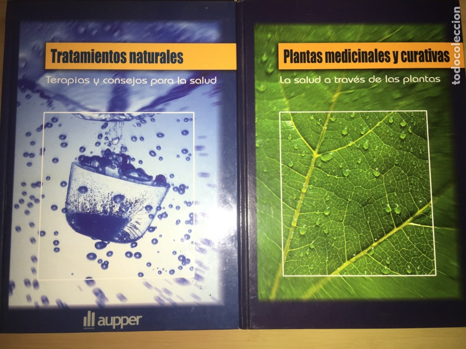 LOTE 2 LIBROS TRATAMIENTOS NATURALES Y PLANTAS MEDICINALES Y CURATIVAS (Libros Nuevos - Ciencias, Manuales y Oficios - Medicina, Farmacia y Salud)