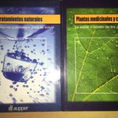 Libros: LOTE 2 LIBROS TRATAMIENTOS NATURALES Y PLANTAS MEDICINALES Y CURATIVAS. Lote 110952836