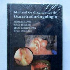 Libros: MANUAL DE DIAGNÓSTICO DE OTORRINOLARINGOLOGÍA. MICHAEL HAWKE, BRIAN BINGHAM, HEINZ STAMMBERGER, BRUC. Lote 111347635